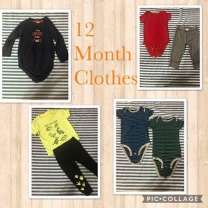 12 Month Outfit Sets